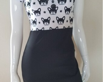 Boston Terrier Pinup Dress