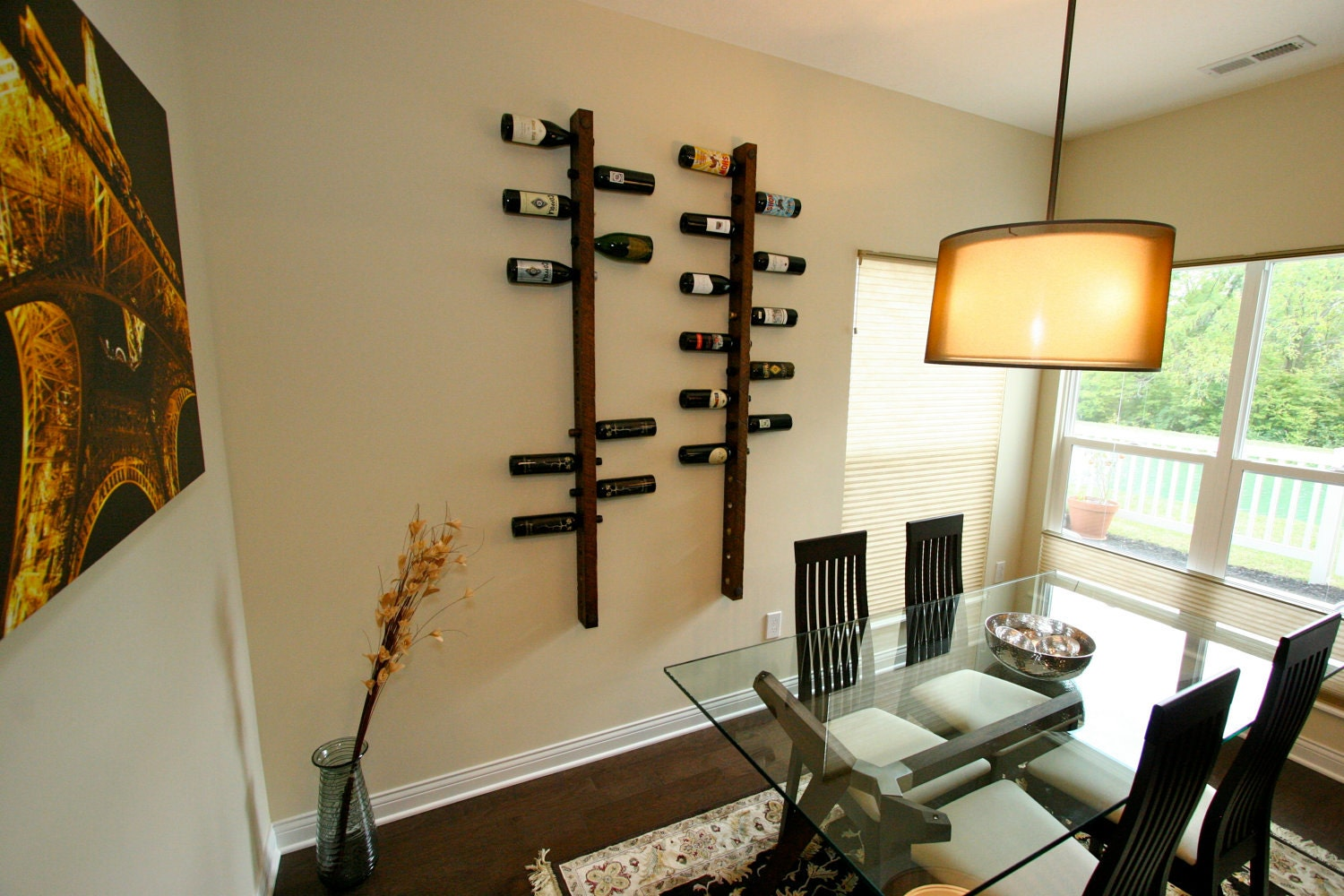 dining room wall decor 16 bottle wine racks wine rack wall. Black Bedroom Furniture Sets. Home Design Ideas