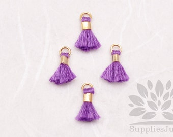 T010-PU// Purple Tiny 10mm Tassel, 6 pcs
