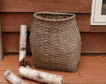 Antique Ash Pack Basket, Trapper Pack, Ash Wood Backpack Basket
