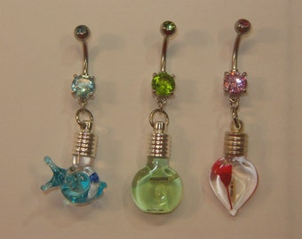 Name on Rice Belly Rings