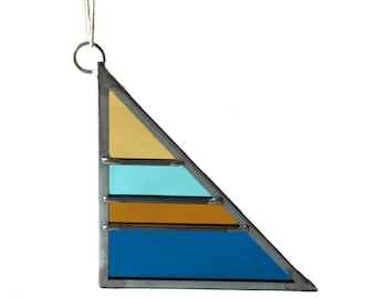 Stained Glass Triangle - Fall Small