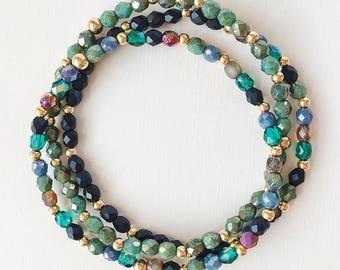 Sea Green Bracelet Stack