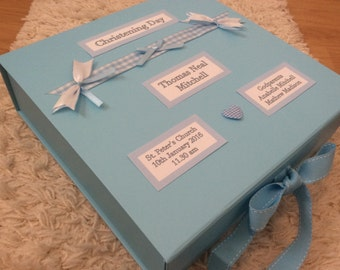 Baby Boy or Girl Memory Keepsake Box, Personalised, New Baby, Christening Gift, Present