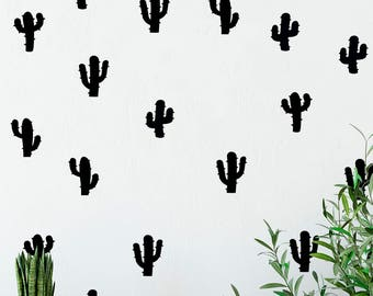Cactus Wall Decal, Cactus Wall Art, Cactus Wall Decor,  Cactus Wall Stickers, Cactus Wall Print, Cactus Decor, Cactus Plant, Cactus Art,