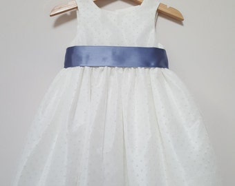 Darcy Flowergirl dress, ivory flowergirl dress, flower girl dresses, bridesmaids, christening dress,