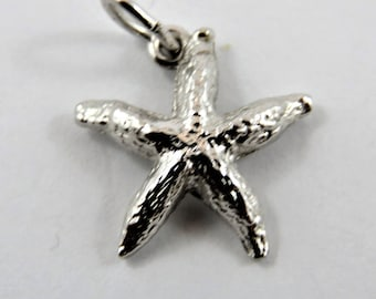 Starfish Sterling Silver Charm or Pendant.