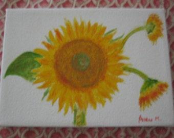 Original Acrylic Sunflower Painting