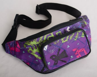 Vintage 90s Colorful Fanny Pack / Waist Bag / Hip Bag - Yellow-Red-Blue - small damage!