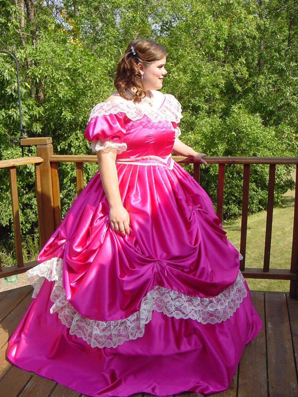 Victorian novia Guerra Civil Steampunk vestido en Tafetán y