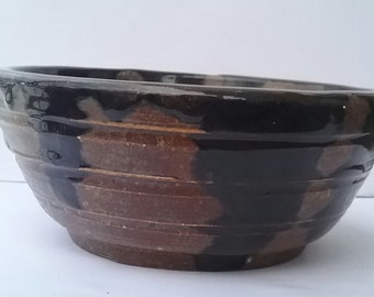 Nice, Thick Ceramic Hand Made Bowl, Good For A Dip Or Nuts And Candy