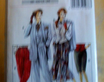 Avantgarde V21078 Plus Size blazer, vest, pants and skirt  Sewing Pattern