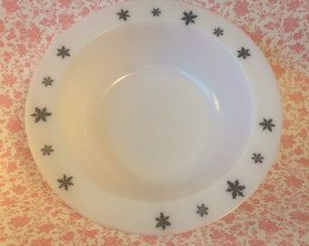 JAJ Pyrex Black Snowflake Large Serving Bowl
