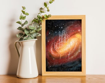 Universe in your Hands - Galaxy Art - Tree Talker Art   Rachael Caringella