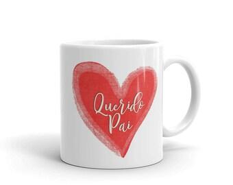 Portugal Querido Pai- Dearest Dad Mug - Heart Mug