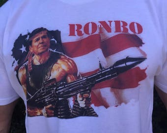 Ronbo Shirt Ronald Reagan Shirt Rambo Tshirt