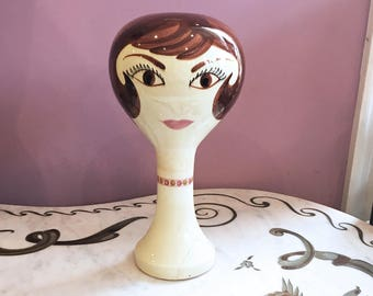 Vintage 60s MOD Mannequin Head by Stangl Pottery Mid Century Modern Vintage Store Display AS IS