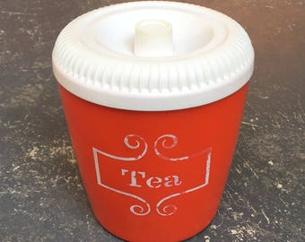Vintage Orange Tea Canister