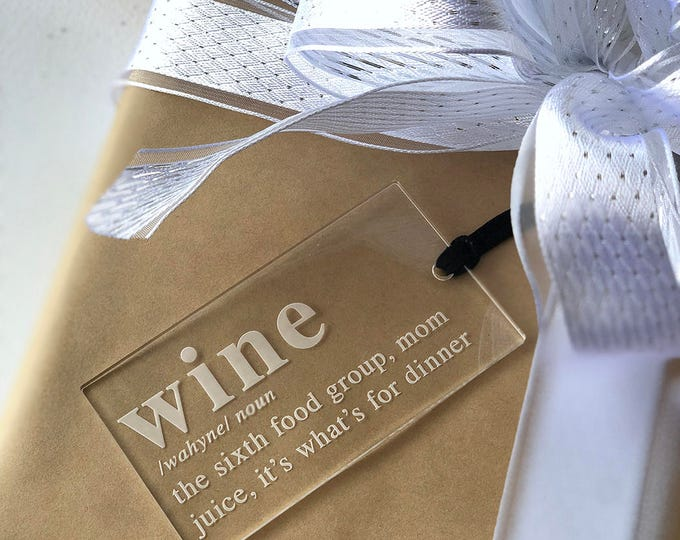 Wine Ornament & Tag - Acrylic or Wood