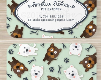 Pet, Groomer, Business Card, Pets, Cat, Dog, Walker, Pet Sitter, Vistaprint,  3.5 x  2