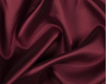 Red/Black Silk/Wool Gab, Fabric By The Yard