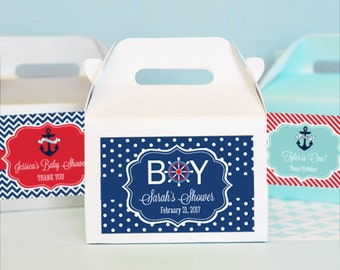 Nautical Favors Box Nautical Baby Shower Favor Box Nautical Theme Birthday Party Kids Birthday Party Goody Bags 2| (EB2313MDKZ) 24 pc