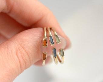 Set of 3 Kyanite Rings.Adjustable Green Kyanite Open Front Ring. Green Kyanite Ring. Kyanite Ring. Adjustable Ring. Adjustable Kyanite Ring.