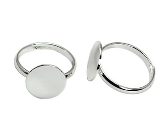 15mm - 50, 100 or 500 rings top 15mm - matte silver