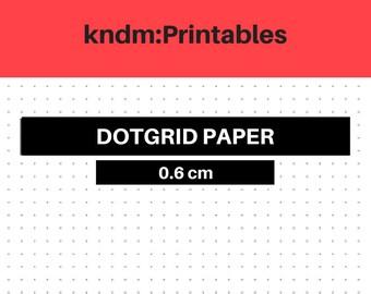 KNDM:Printables, Dot Grids, 0.6cm, bujo, bullet journal, journal, handwritten, planner, diy.