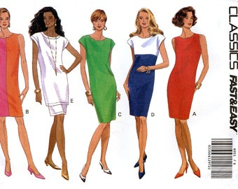 Butterick Classics 6051 Sewing Pattern for Misses' Dress, Tunnic and Skirt- Uncut - Size 6, 8, 10