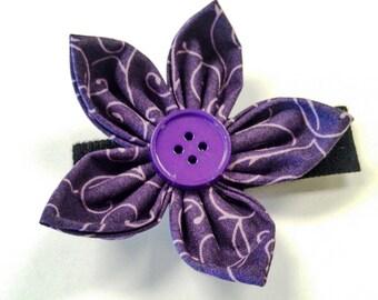 Dark Purple Swirl - Bow Tie or Flower