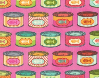 Tula Pink - Tabby Road Collection - Cat Snacks in Marmalade Skies