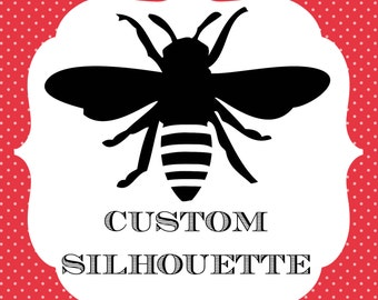 Custom Hand-Cut 8x10 Silhouette Portrait