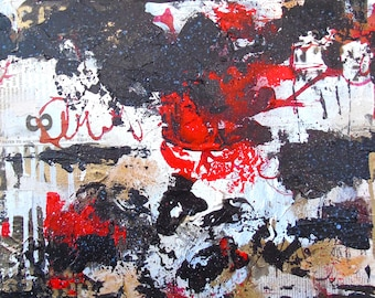 One Day, We'll All Understand-original artwork mixed media collage painting contemporary art