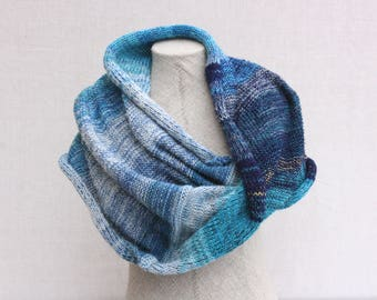 Shoulder throw blanket Moonshadow 2 - Chunky warm knit, cotton mohair silk knit wrap to slip over your shoulders on the couch terrace
