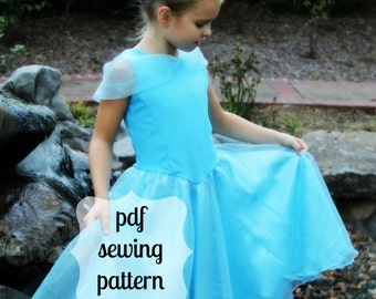 Playground to Palace Dress, a princess style-pdf sewing pattern with instant download