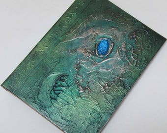 Handmade Refillable Journal Distressed Green Sea Jewel textured 8x6 Original travellers notebook hardcover fauxdori