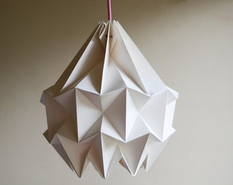 SNOW paper origami lampshade - white