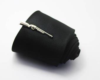 AK Tie Clip, Fashion Tie Clip, Classic Tie Clip, Silver Tie Clip, Novelty Accessories, Gift For Man