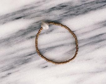 Light Grey Bead Bracelet