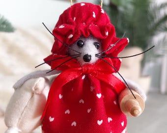 Handmade Christmas Mice Ornament