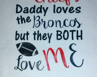 Kansas City Chiefs Onesie | Denver Broncos Onesie | Football Onesie | Shirt
