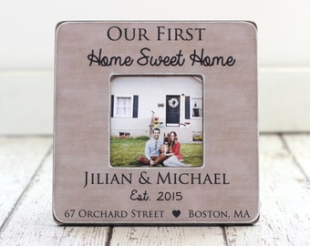 Christmas GIFT First Home Christmas Holiday Housewarming Gift Personalized Picture Frame Newlyweds Home Owners Custom Gift