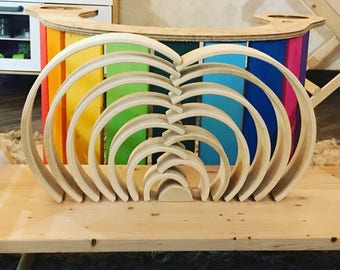 Wooden Rainbow-14 pieces-Nature