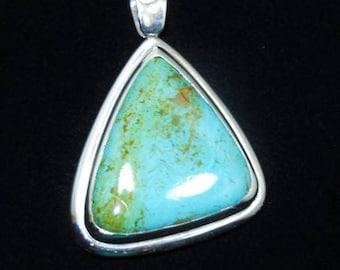 Natural Arizona Turquoise 925 silver Pendant