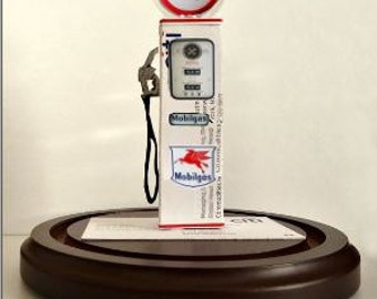Mobil Gas Pump Business Card Sculpture -Vintage Style Texas Tea -Design 1380 any Theme, Hobby or Sport