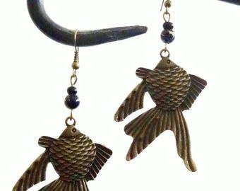 """Fish"" Japanese Style earrings"