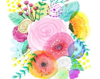 Spring Flower Bouquet  - Fine Art Print
