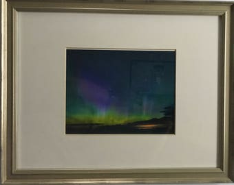 Framed Northern Lights over Old Mission Photo