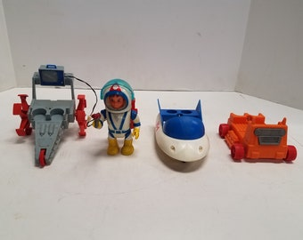 Vintage  LOT of Billy Blastoff, Scout vehicles and space man by ELDON  Made in Japan,  1968